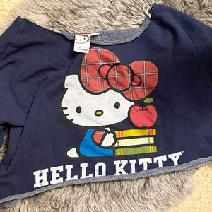 Hello Kitty Bow and Books Crop Top